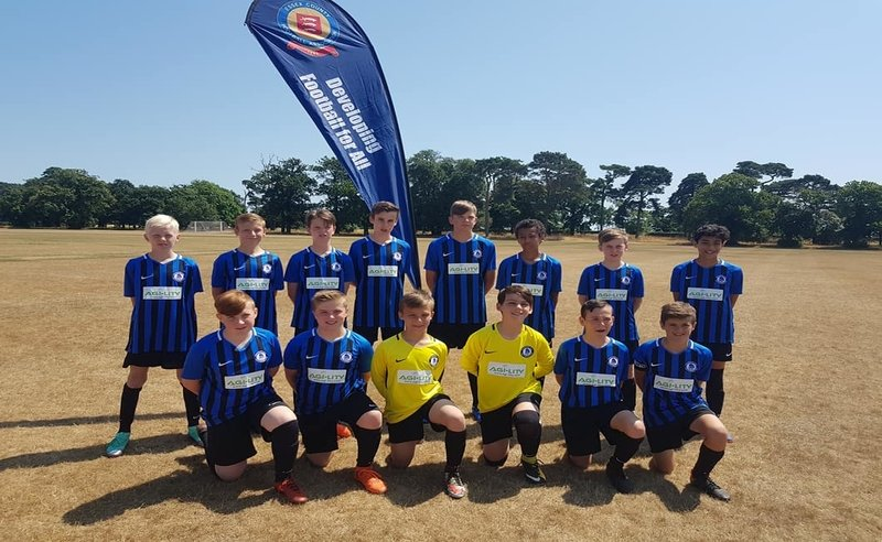 Colchester Villa Under 13 (2018/19 Season) showing off their stunning new kit