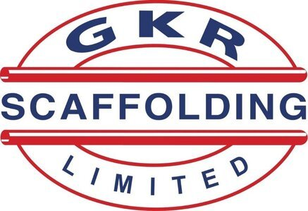 GKR Scaffolding Limited logo, the sponsors of Colchester Villa Youth Football Club